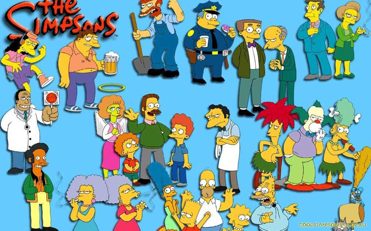 Симпсоны персонажи картинки 20 фотография